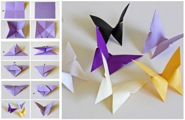 Make Paper Butterflies at Home