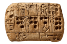 Mesopotamia writing tablet