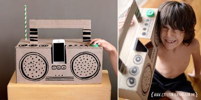 DIY Cardboard Boombox