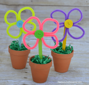 Pipe Cleaner Flowers for Kids Artificial Flowers of Pipe Cleaner