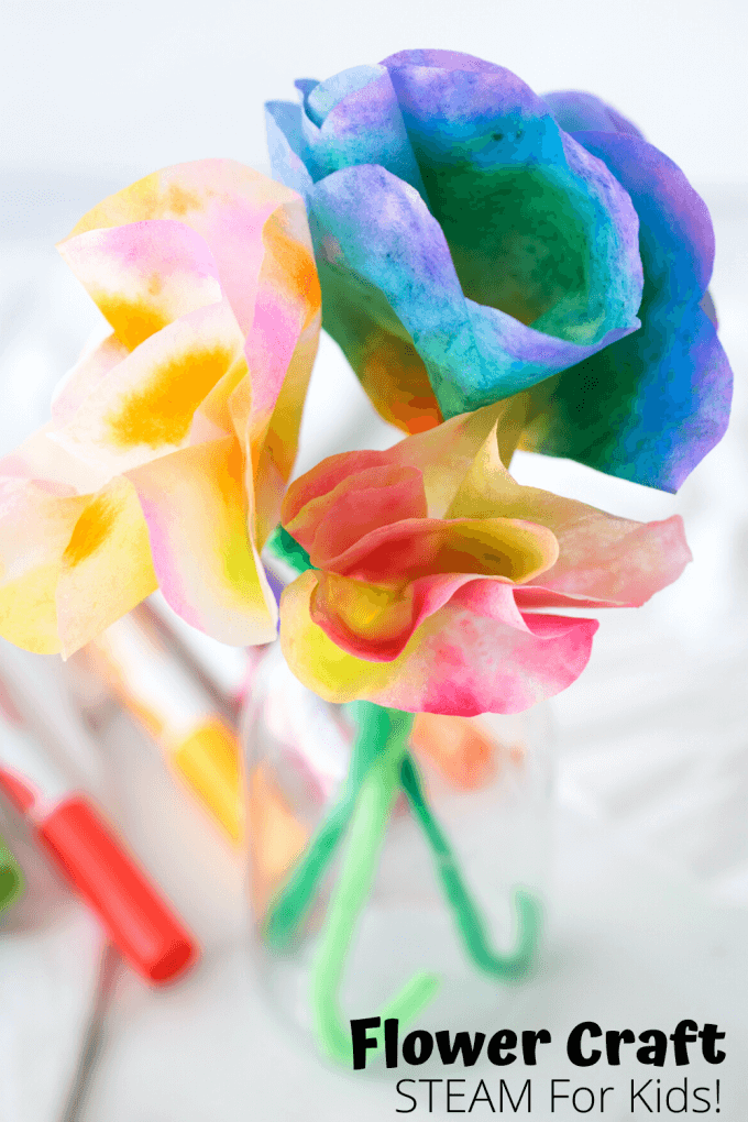 Pipe Cleaner Flowers for Kids Colourful Rose of Pipe Cleaner