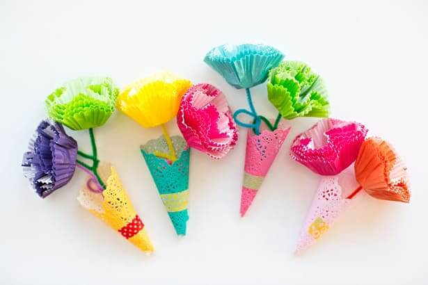 Pipe Cleaner Flowers for Kids Beautiful pipe cleaner cone flowers