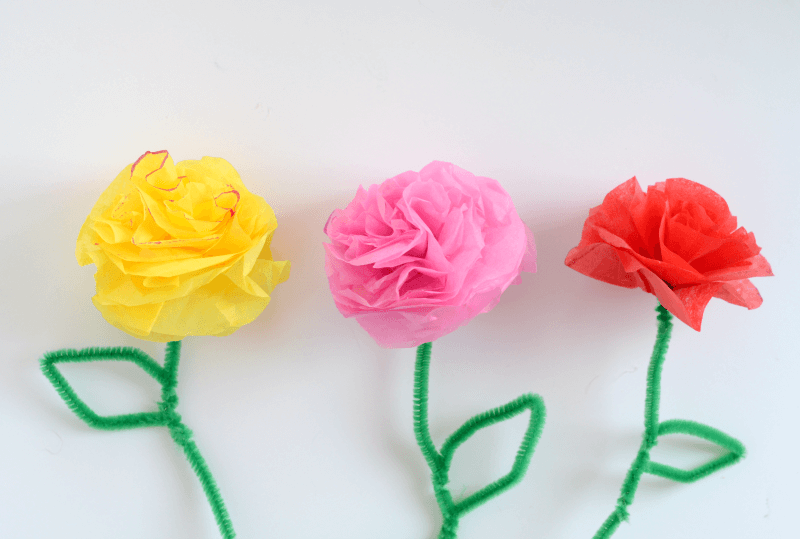 Pipe Cleaner Flowers for Kids Beautiful Pipe Cleaner Artificial Roses