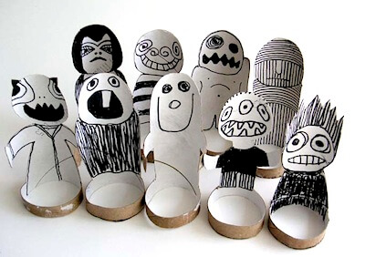 Recycled Crafts for Kids The Paper Monsters