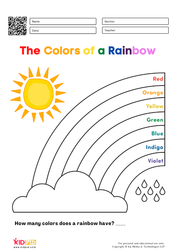 Rainbow Coloring Pages For Kids - Kidpid