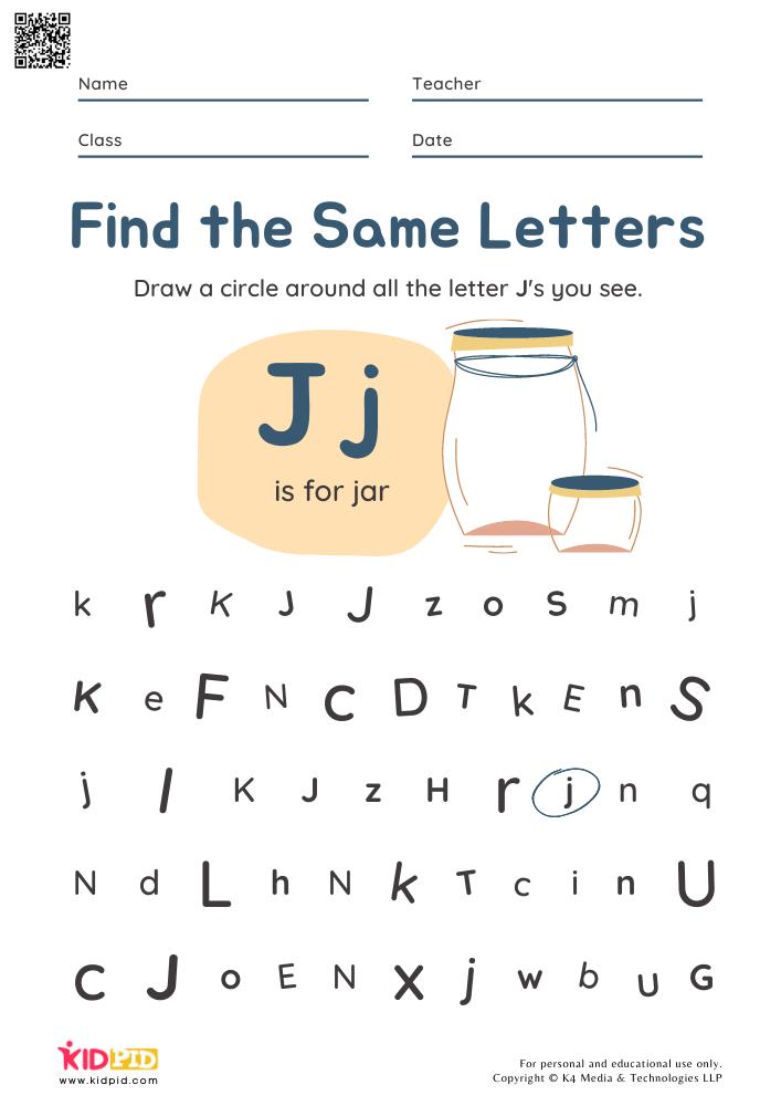 Letter Recognition Preschool Worksheets - Kidpid