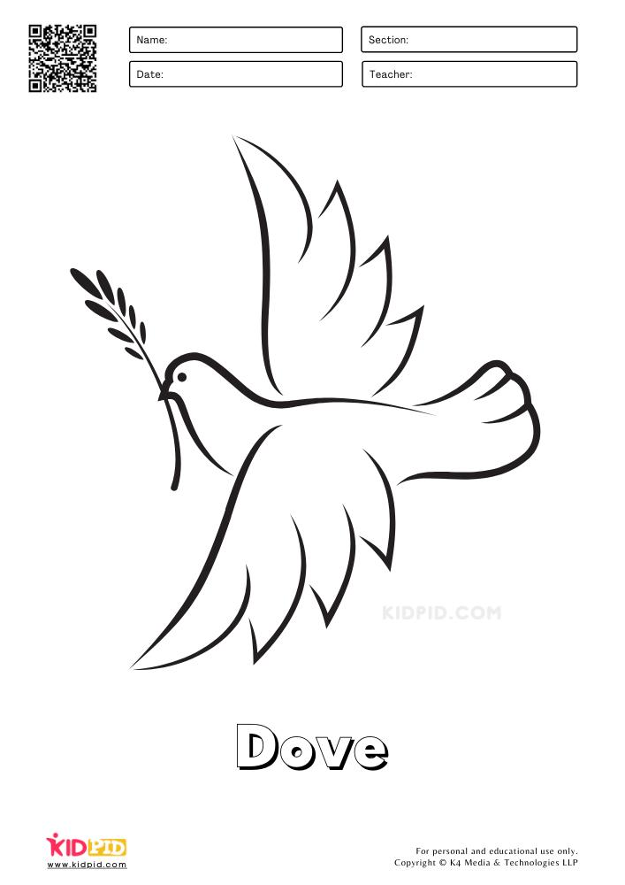 Farm Animal Coloring Printable Worksheets Dove