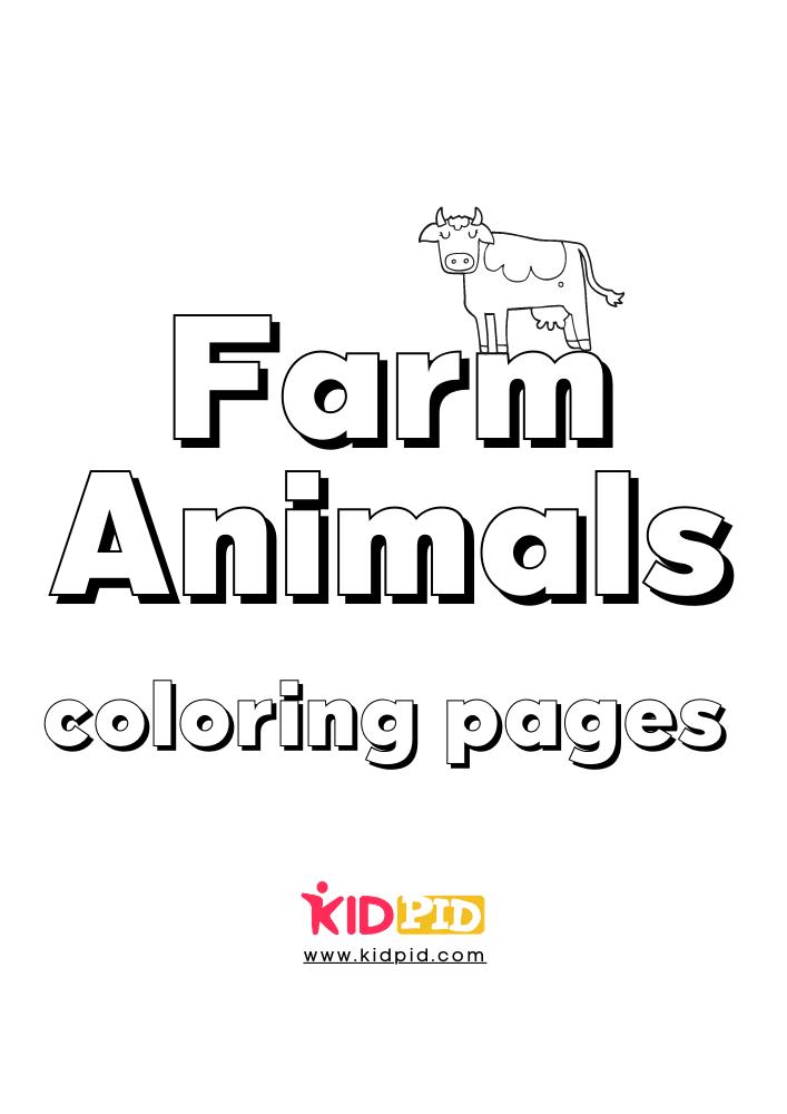 Farm Animal Coloring Printable Worksheets