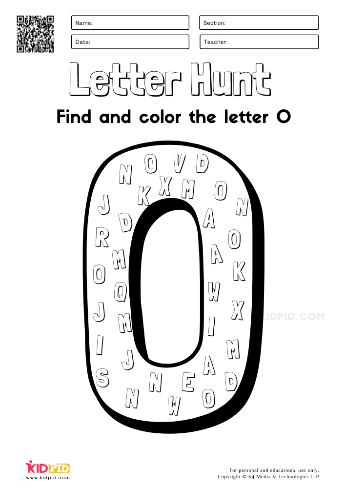 Free Alphabet Letter Hunt Worksheet Printables for Preschool