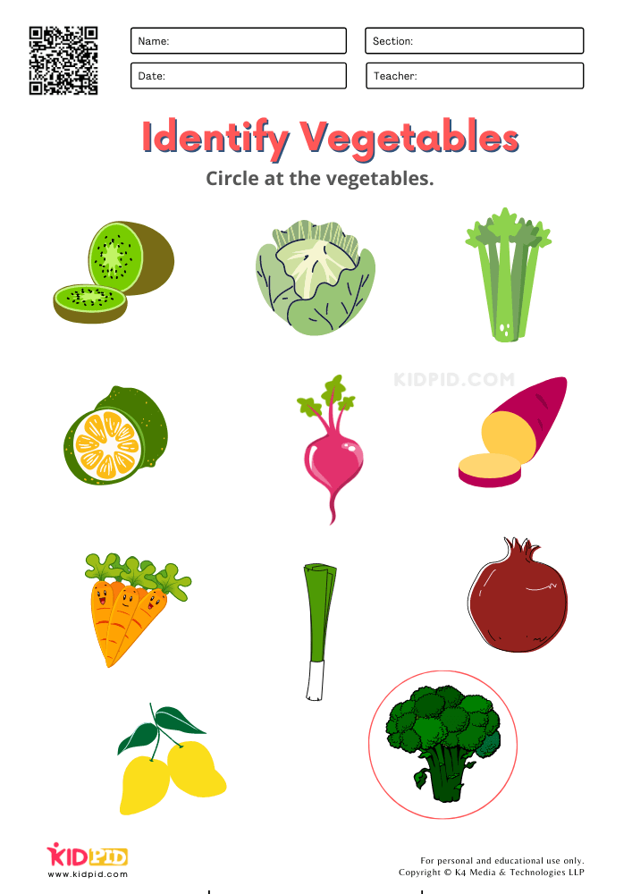 Specify The Vegetables