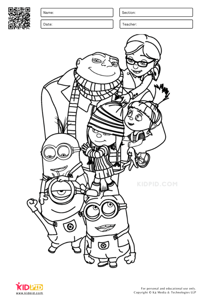 The winter family of minion
