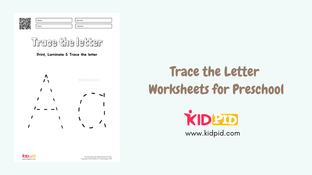 Trace The Letter Worksheets For Preschool - Kidpid