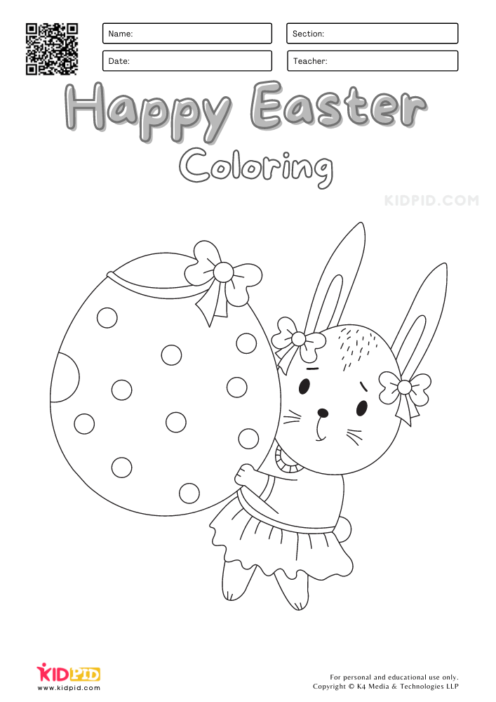 Easter Coloring Worksheets for Kids