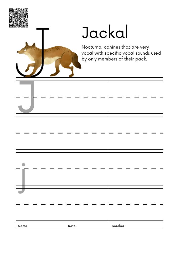 WORKSHEET 10 Animal Alphabet Letter Practice Free Printable Worksheets