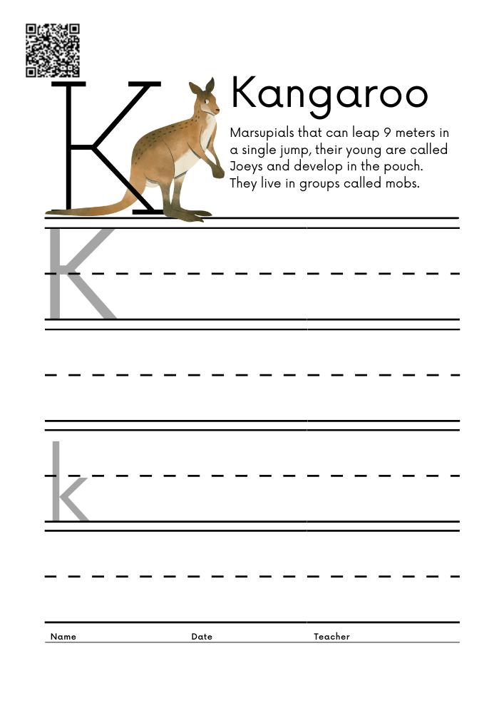 WORKSHEET 11 Animal Alphabet Letter Practice Free Printable Worksheets