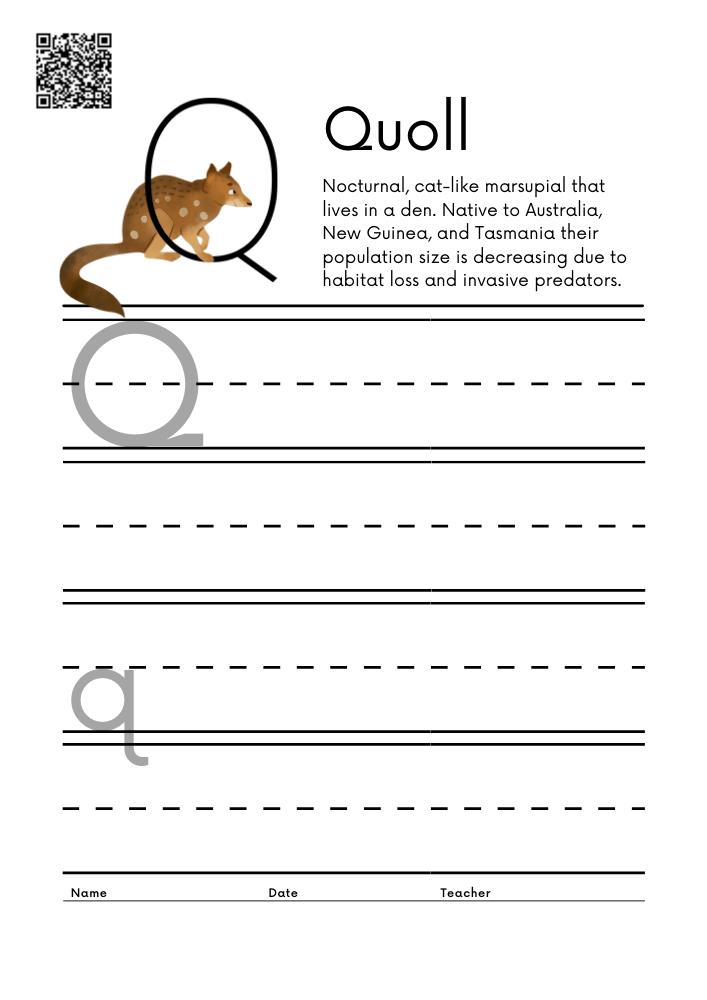 WORKSHEET 17 Animal Alphabet Letter Practice Free Printable Worksheets