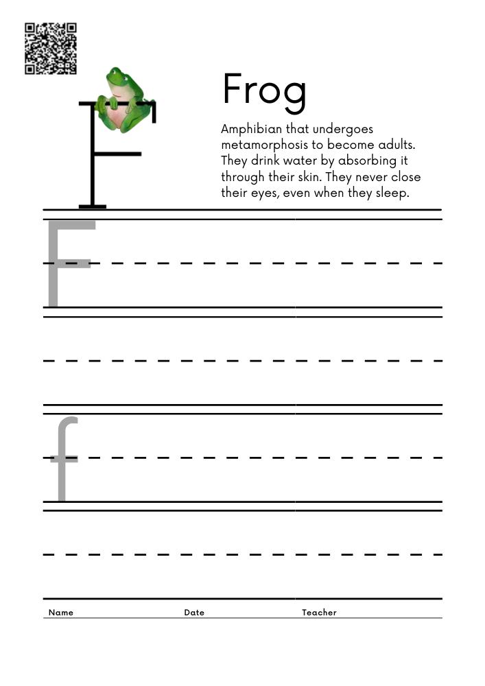 WORKSHEET 6 Animal Alphabet Letter Practice Free Printable Worksheets