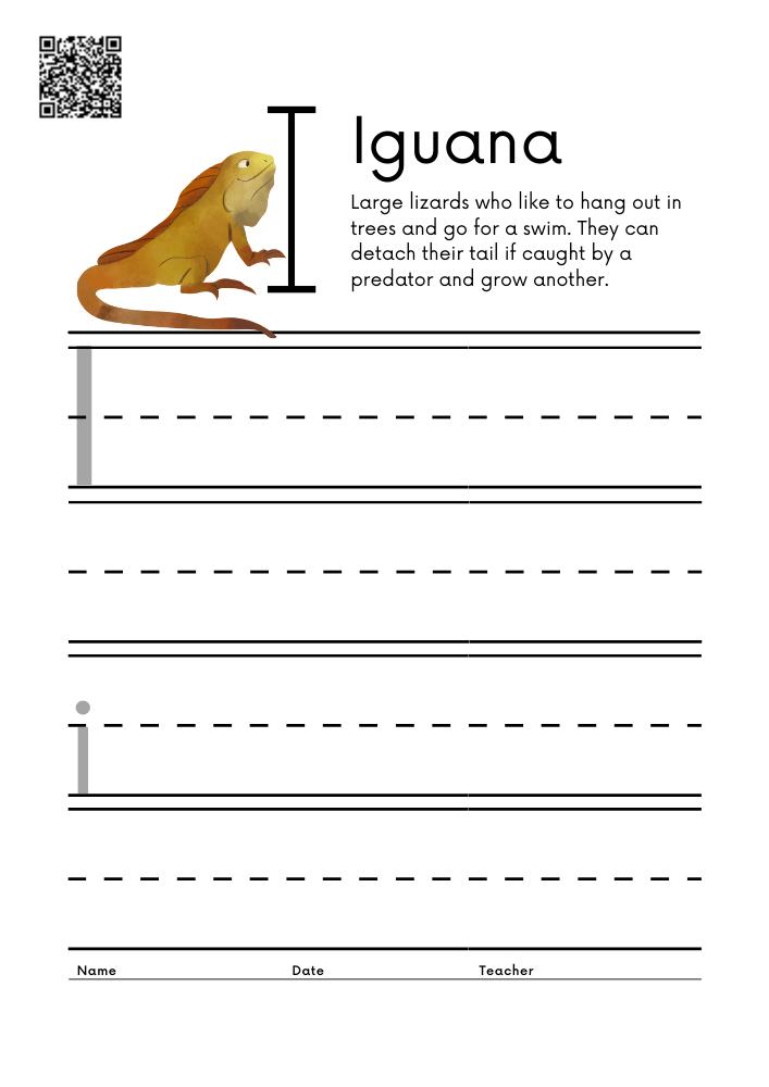 WORKSHEET 9 Animal Alphabet Letter Practice Free Printable Worksheets